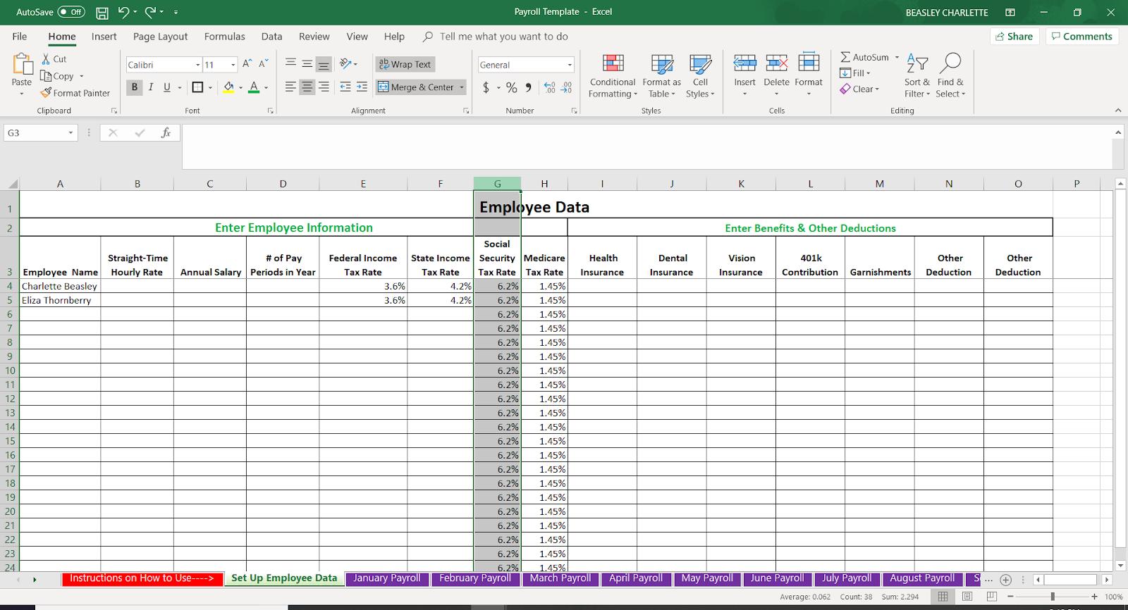 Bagaimana Melakukan Penggajian Dalam Excel Template Percuma Perakaunan 2020